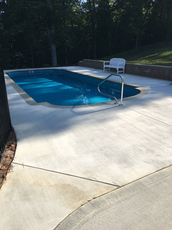 Fiberglass pools infinity pool construction llc for Fiberglass pool installation